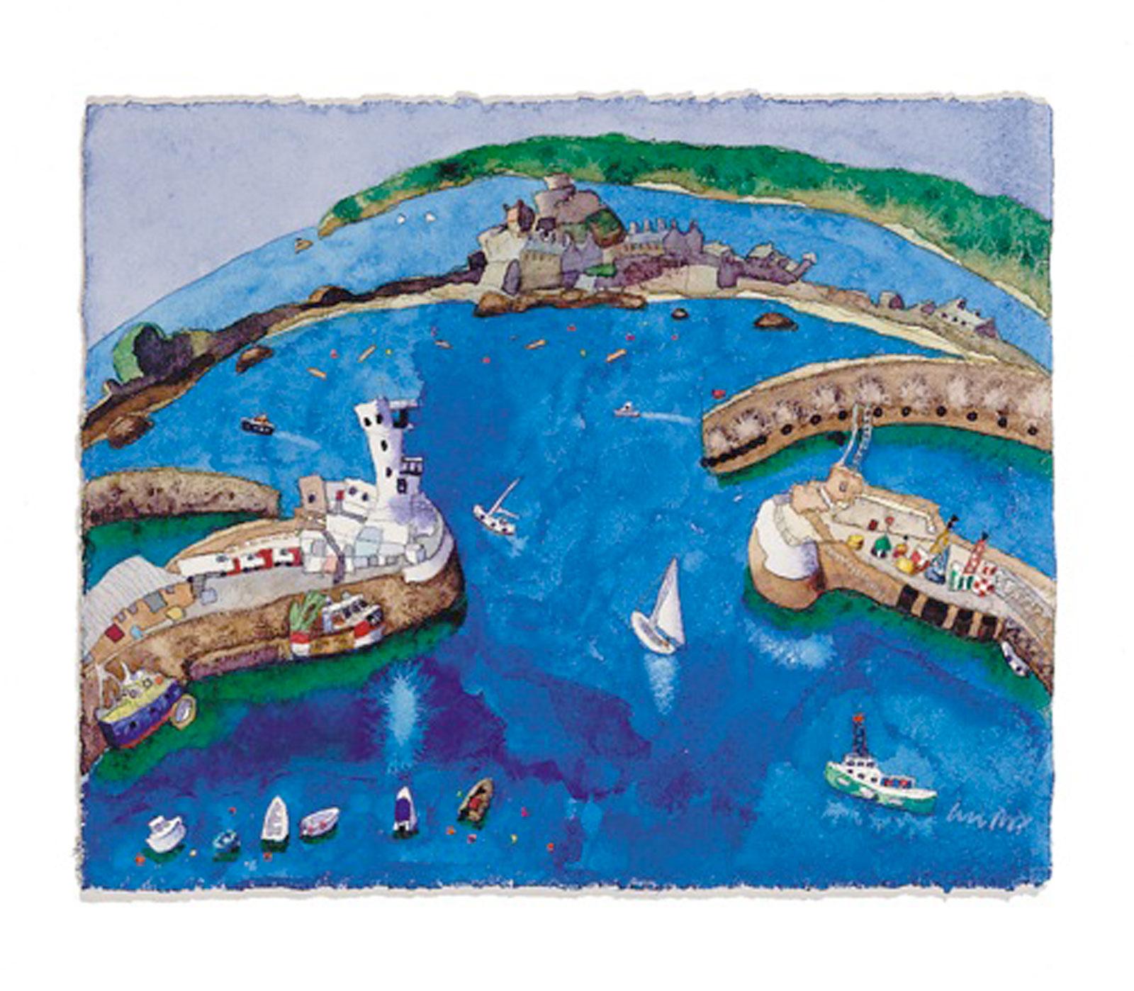 St Helier Harbour & Elizabeth Castle