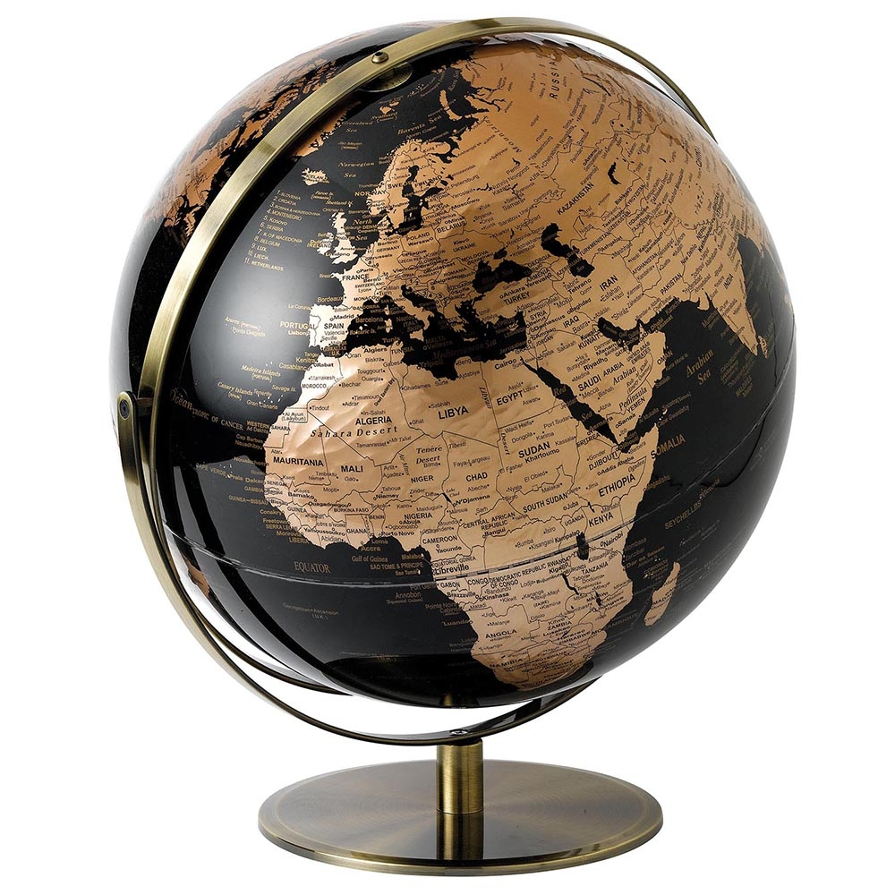 Black & Copper Globe – 43 cm
