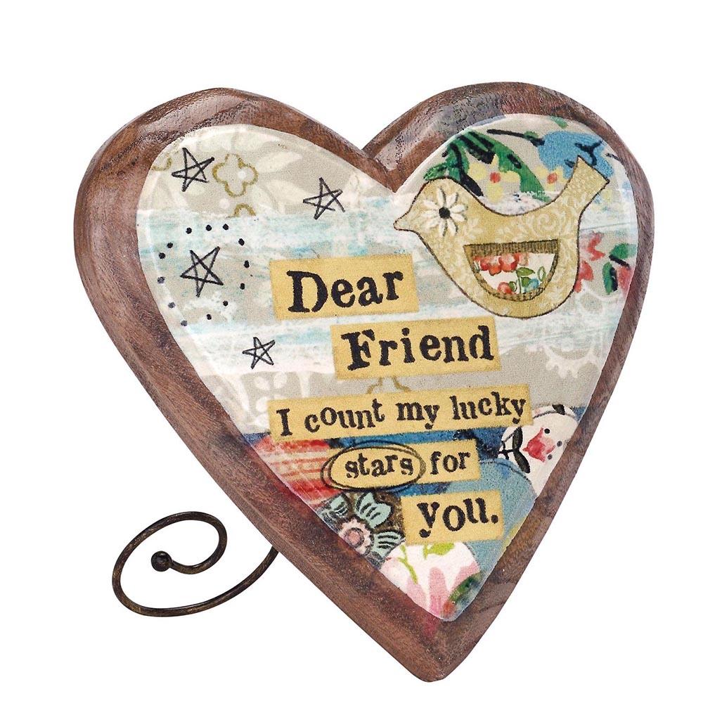 Dear Friend – Wooden Heart