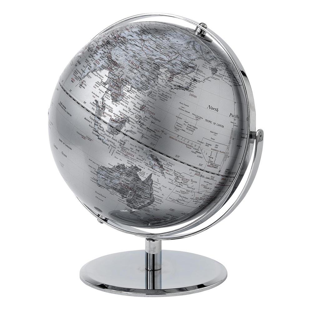 Silver Globe – 30 cm