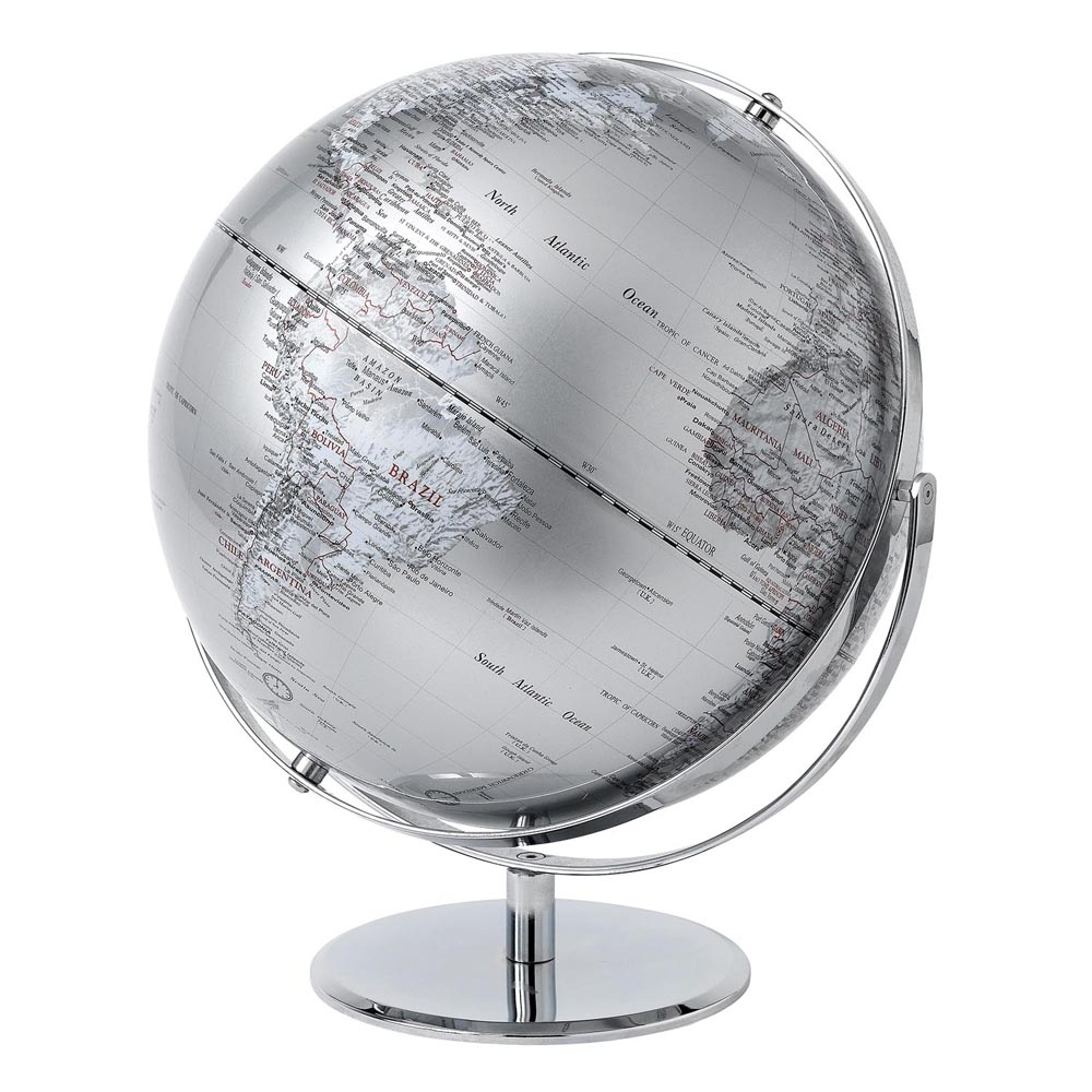 Silver Globe – 43 cm