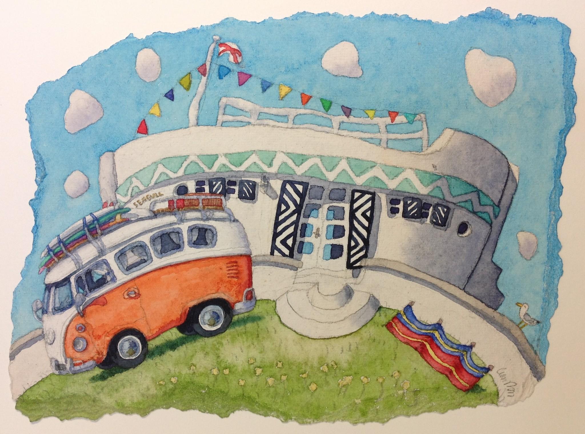 Barge Aground & Camper Van ( Jersey)