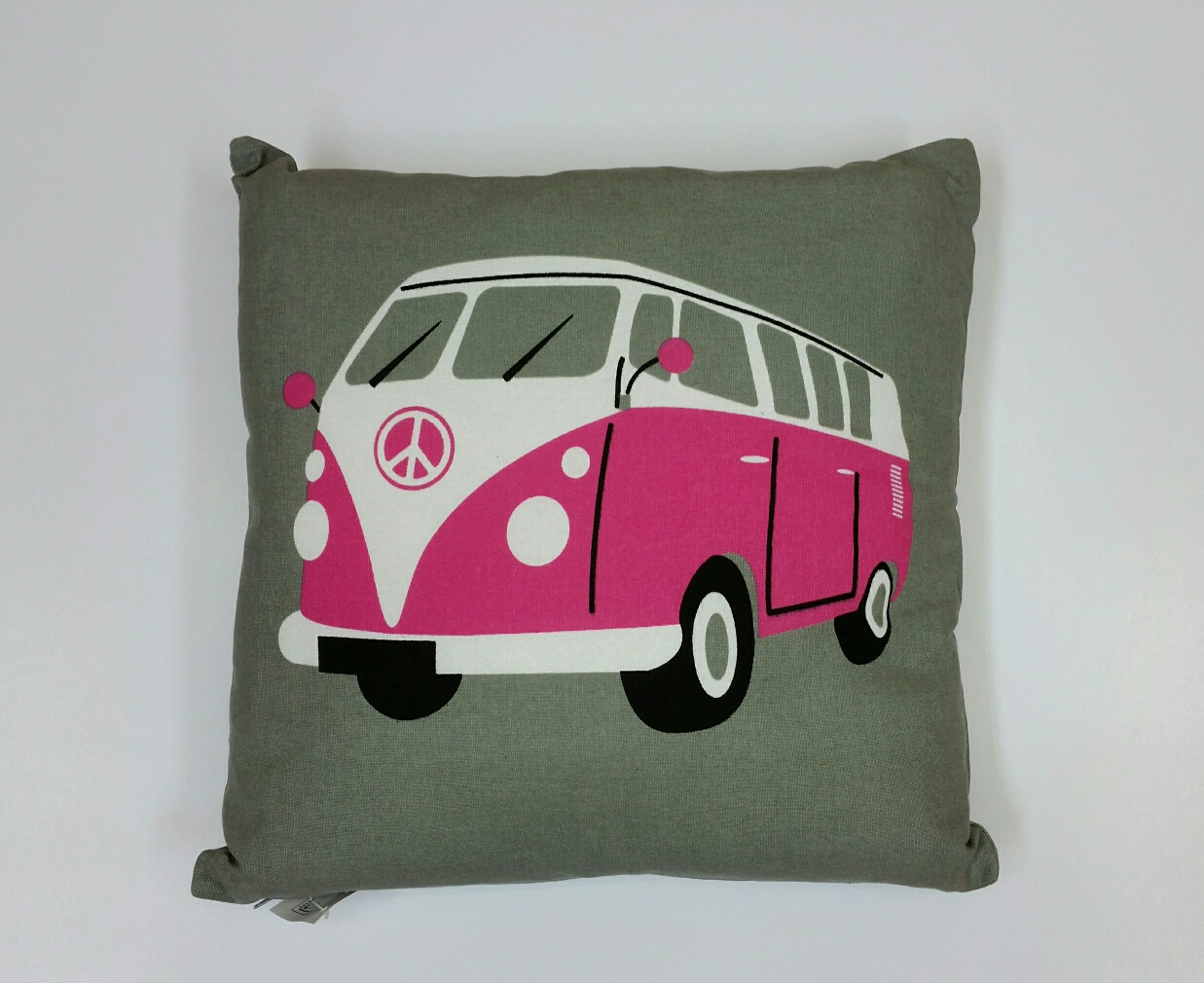 V W Camper Van Cushion – Pink