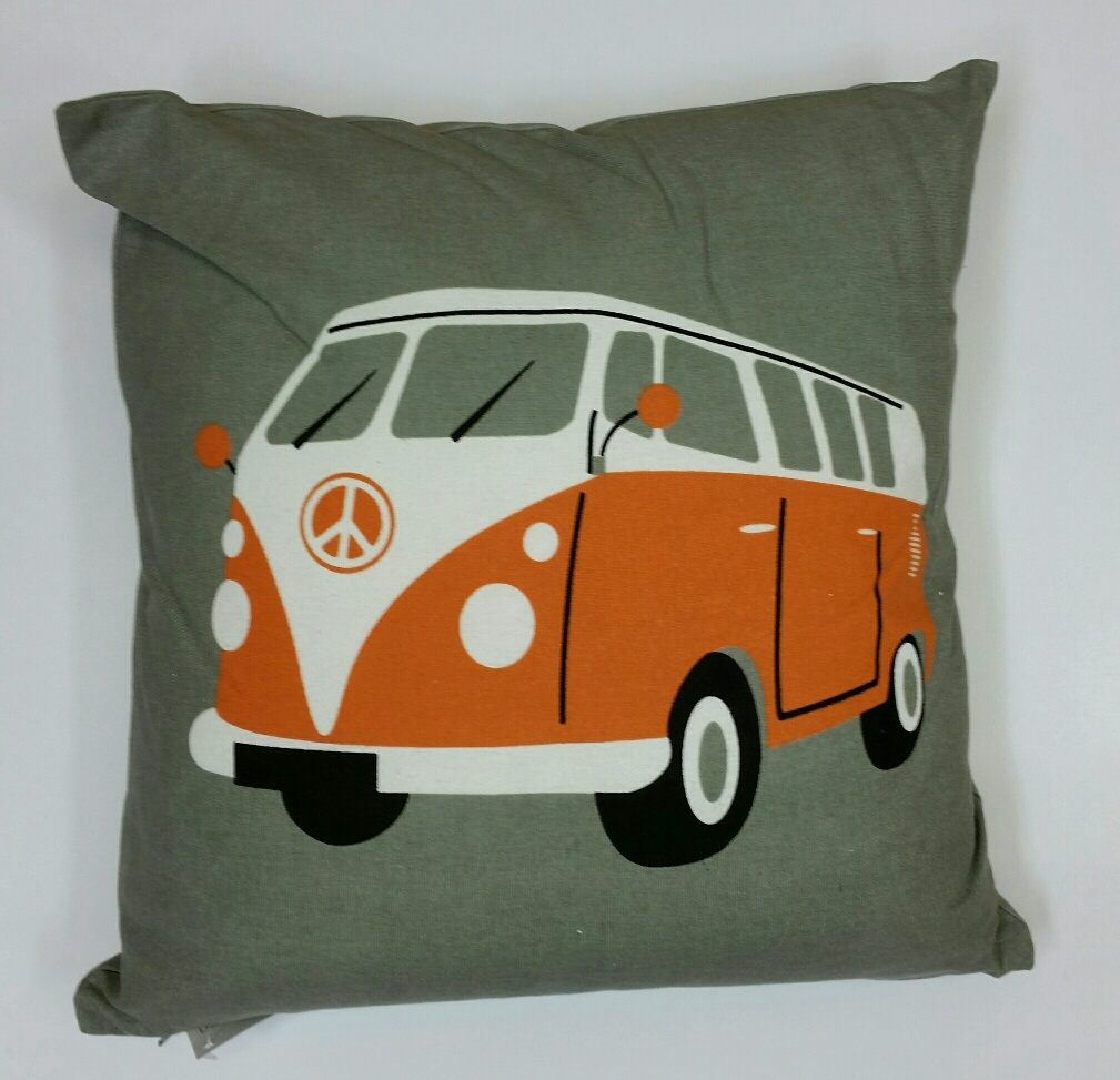 V W Camper Van Cushion – Orange