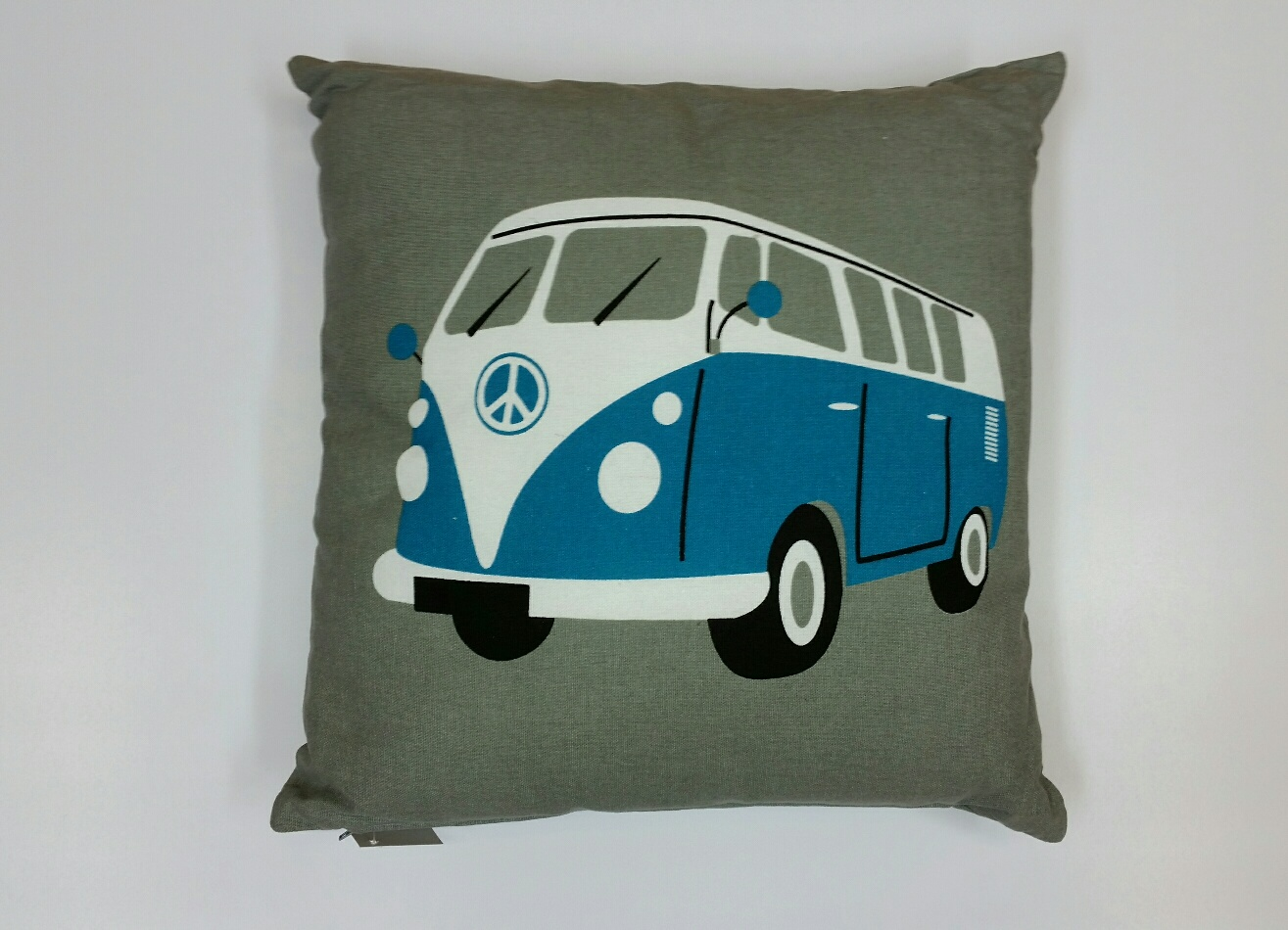 V W Camper Van Cushion – Blue