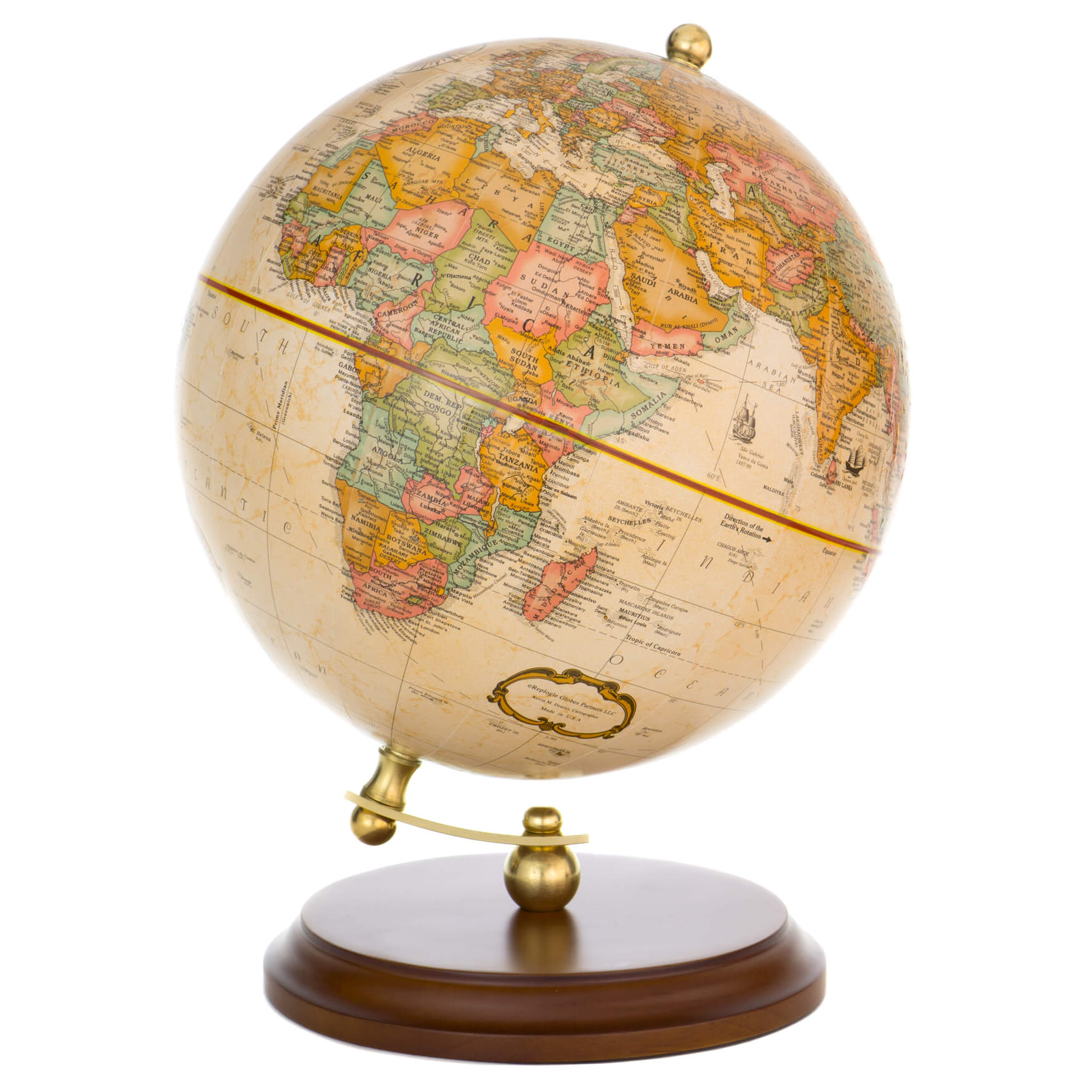 Keats Antique Globe